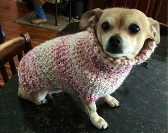 Cotton Candy, Knit Dog Sweater, small dog sweater, dog sweaters, dog sweater, small dog sweaters, pink dog sweaters, pink dog sweater