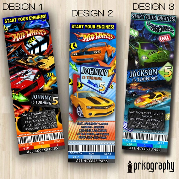 Hot Wheels Birthday Invitations could be nice ideas for your invitation template