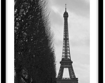 Paris, France. Black and White Fine Art Photograph printed on 308gsm Hahnemuhle fine art paper (Unmatted)