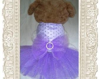 Fashion dog tutu with hair bow