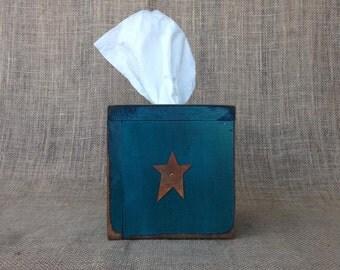 Primitive Wood Tissue Box Cover