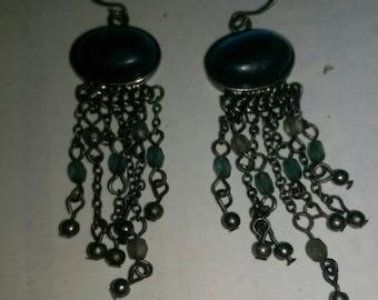 Antique looking blue earrings