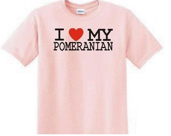 I Love My Pomeranian T-shirt