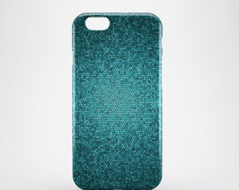 Blue Honeycomb Phone case,  iPhone X Case, iPhone 8 case,  iPhone 6s,  iPhone 7 Plus, IPhone SE, Galaxy S8 case, Phone cover, SS121a