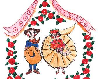 Wedding Couple Greetings Card