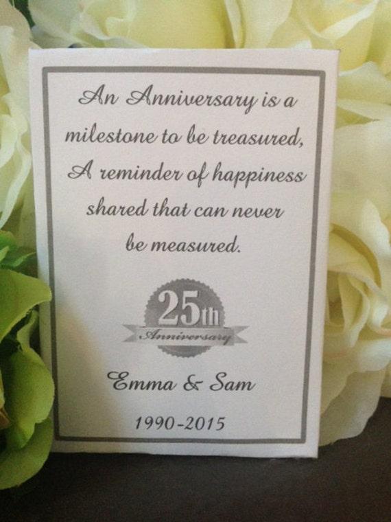 50 Custom Wedding Anniversary Seed Packet Favors Choose 25th