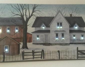 "Billy Jacobs ""1890 Farmstead"" LED Lighted Canvas Print"