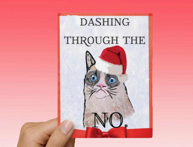 Grumpy Cat Christmas Card