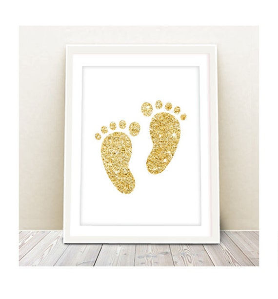 Footprints Wall Decor : Items similar to baby footprints wall art instant