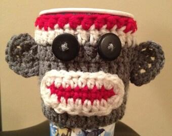 Sock Monkey Cup Cozy
