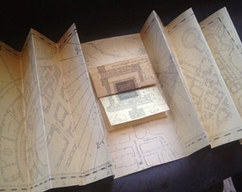 Marauder's Map on Glitter Parchment Hogwarts Map  Harry Potter inspired map