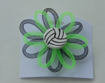 volleyball pin with mesh tubing