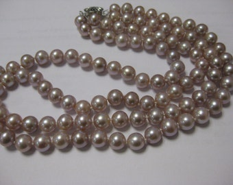"""17.5"""" double strand fresh water cultured pearl necklace"""