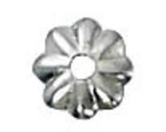4.5mm sterling silver tulip cap 100 pcs.