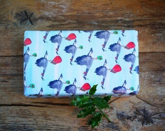 Christmas Wrapping Paper Santa Goose