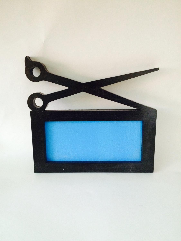 cosmetology license scissor frame