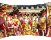 Rich Renaissance Royal pillow cover. The Italian Court of Mantua. Rich, luxury colours and feel. And such a talking point in your home!