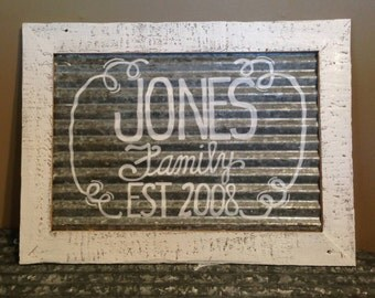 Family Sign- Barnwood and Tin Sign- Custom Family Sign