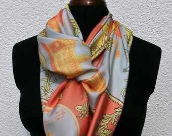 """Scarf """"Berlin"""" from the silk weave, colours: apricot scarf """"Berlin"""""""