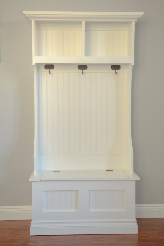 Items Similar To Hall Tree Mudroom Storage Bench And