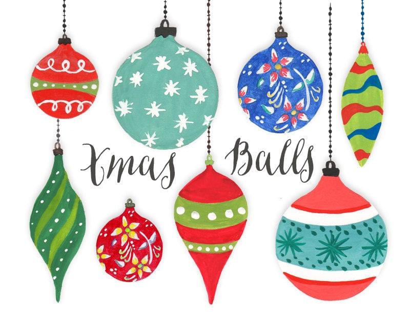 Christmas Clipart Christmas Tree Balls Christmas Holiday