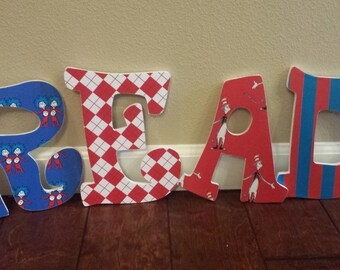 Dr. Seuss Decorative Letters; READ letters; Dr. Seuss; Teacher Gifts