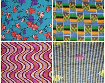 4 Fat Quarters. African Fabric