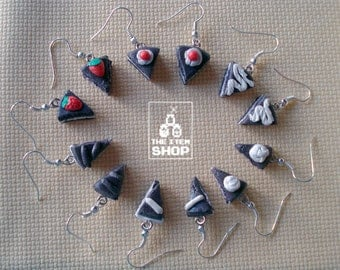 Cute cake earrings