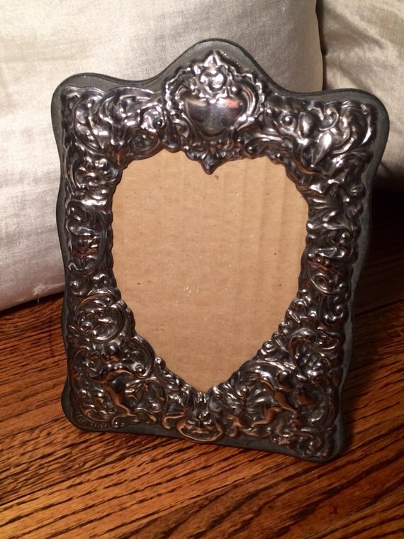 salevintage mercury glass picture frame