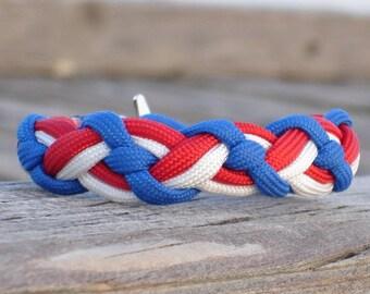 Celtic braid paracord bracelet, T-shaped clasp