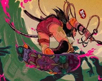 Ninja Skater - Print