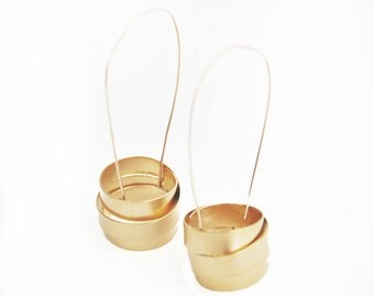 Gold dangle earrings, big gold earrings, gold drop earrings, gold statement earrings, large statement earrings, gift for her