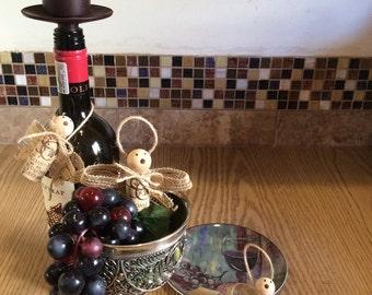 Angel Wine Cork Decorations Set of 3
