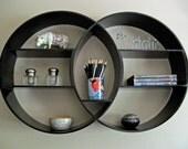 Round Shelving Unit, Reclaimed Wood Shelf, Wall Shelf, Floating Shelves, Circular Shelf, Book Shelf, Wood Shelf, Round Shelf | DECO (38 in)
