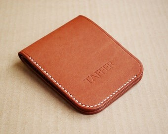 Items similar to Amity California Saddle bifold leather ...