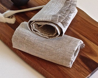 Rustic linen towels (4 ),Eco friendly linen towels, Grey linen towels, Linen dish towels, Linen kitchen towels, Organic linen towels