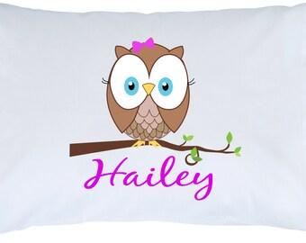 Personalized Owl Standard Pillowcase