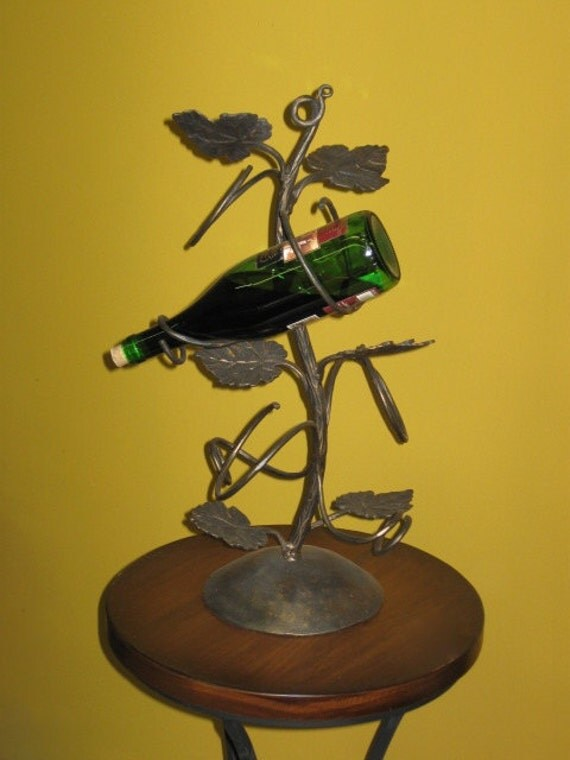 Wrought Iron Tabletop Wine Rack By Metalbyhand On Etsy