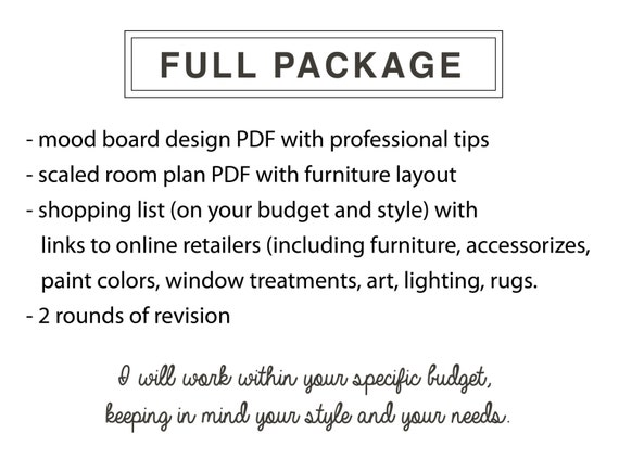 Interior Design Service Online EDesign Complete 1 Room With Scaled Plan Moodboard And Shopping List Easy Affordable
