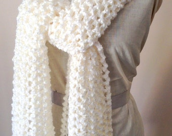 Handknitted Warm Winter Scarf