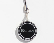 "Durarara!! Dollars Symbol 1"" Mini Acrylic Charm with Phone Strap (Double Sided Front & Back)"