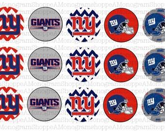 New York Giants Inspired Bottle Cap Images