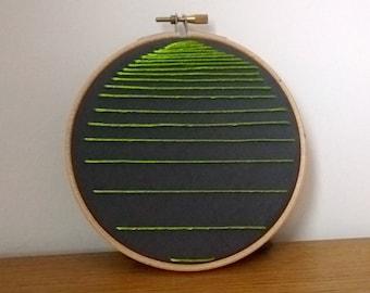 Linear contemporary hoop art