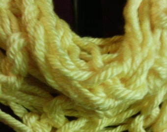 yellow knitted cowl neckwarmer