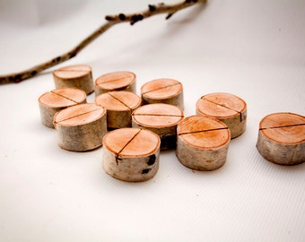 30 birch place card holders