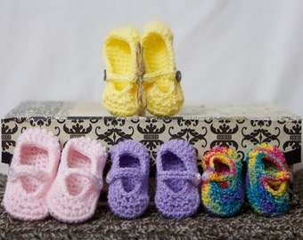 Sale - Baby Crocheted Mary Janes