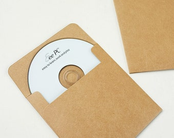 10pcs Recycled Kraft Paper CD Sleeves CD Box set 13*13cm (CD001)