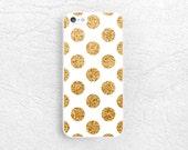 Gold Glitter print Polka dots phone case for iPhone 6 iPhone 5, Sony z1 z2 z3 compact, LG g2 g3 nexus 5, HTC one m7 m8 m9, Moto x Moto g -P6