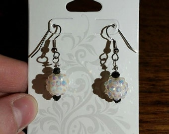 White Shimmer Earrings