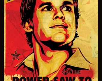 Dexter - Shepard Fairey Poster Framed